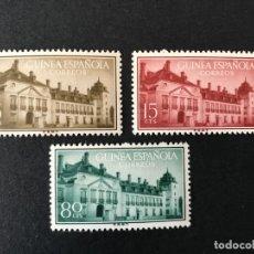 Sellos: GUINEA 1955 EDIFIL 347/9** MNH. Lote 176862789