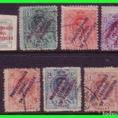 Sellos: MARRUECOS 1915 ALFONSO XIII EDIFIL Nº 43 (1/4), 45 A 47 Y 51 A 53 (O). Lote 176925728