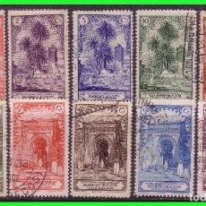 Sellos: MARRUECOS 1928 VISTAS Y PAISAJES, EDIFIL Nº 105 A 112 (O). Lote 176929223