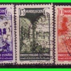 Sellos: MARRUECOS 1941 TIPOS DIVERSOS, EDIFIL Nº 234 A 240 (O). Lote 176966657
