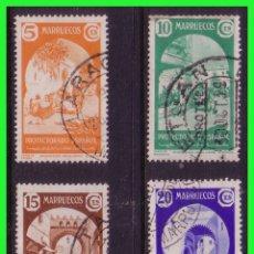 Sellos: MARRUECOS 1939 TIPOS DIVERSOS, EDIFIL Nº 196 A 199 (O). Lote 176966754