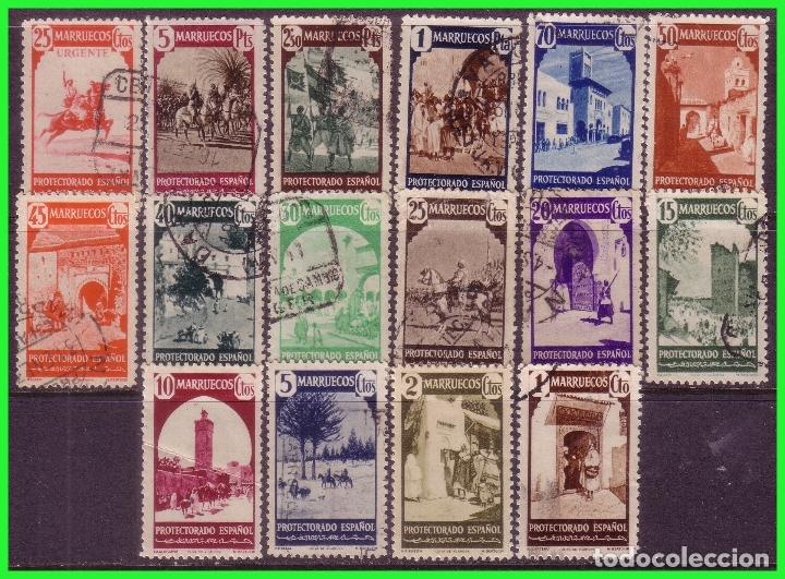 MARRUECOS 1940 TIPOS DIVERSOS, EDIFIL Nº 200 A 216 *, 206 Y 208 (O) (Sellos - España - Colonias Españolas y Dependencias - África - Marruecos)