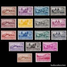Sellos: SELLOS ESPAÑA.AFRICA OCCIDENTAL.1950.PAISAJES EFIGIE. SERIE COMPLETA.NUEVO**.EDIFIL.3-19. Lote 177319729