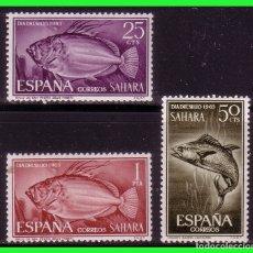 Sellos: SAHARA 1964 DÍA DEL SELLO, EDIFIL Nº 222 A 224 *. Lote 177571617