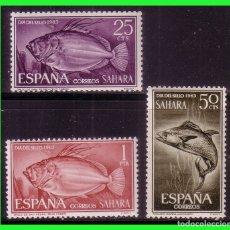 Sellos: SAHARA 1964 DÍA DEL SELLO, EDIFIL Nº 222 A 224 * *. Lote 177571787