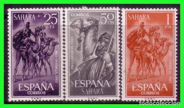 SAHARA 1963 PRO INFANCIA, EDIFIL Nº 217 A 219 * (Sellos - España - Colonias Españolas y Dependencias - África - Sahara)