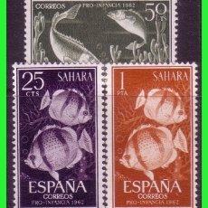Sellos: SAHARA 1962 PRO INFANCIA, EDIFIL Nº 209 A 211 *. Lote 177572658