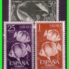 Sellos: SAHARA 1962 PRO INFANCIA, EDIFIL Nº 209 A 211 * *. Lote 177572713