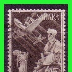 Sellos: SAHARA 1961 INDÍGENA Y AVIÓN EN VUELO, EDIFIL Nº 189 (O). Lote 177573328