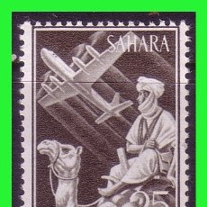 Sellos: SAHARA 1961 INDÍGENA Y AVIÓN EN VUELO, EDIFIL Nº 189 * *. Lote 177573390