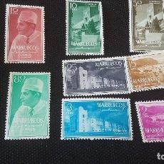 Sellos: ESPAÑA,1956 REINO INDEPENDIENTE ZONA NORTE,MARUECOS, TIPOS DIVERSOS EDIFILL 1/8. Lote 177945957