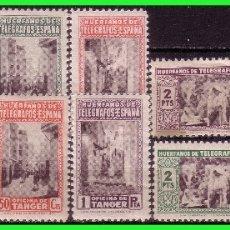 Francobolli: TÁNGER BENEFICENCIA HUÉRFANOS DE TELÉGRAFOS, 12 VALORES * * COMPLETA. Lote 178087368
