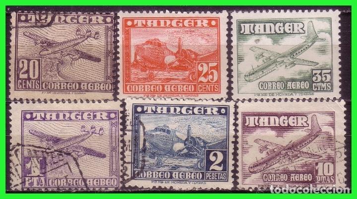 TÁNGER 1948 AVIONES, EDIFIL Nº 166 A 171 (O), ALGUNO NUEVO (Sellos - España - Colonias Españolas y Dependencias - África - Tanger)