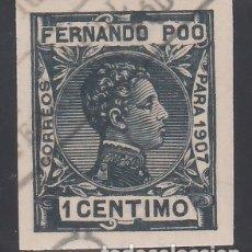 Sellos: FERNANDO POO, 1907 EDIFIL Nº 152S, SIN DENTAR. . Lote 178110623
