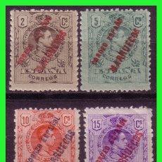 Timbres: TÁNGER 1909 SELLOS DE ESPAÑA HABILITADOS, EDIFIL Nº 1 A 4 * *, EL Nº 3 *. Lote 178111210