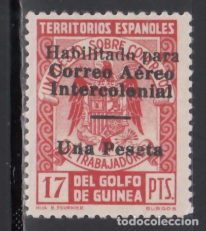 GUINEA, 1940-1941 EDIFIL Nº 259 L /*/, BARRA DE HABILITACIÓN 6,5 MM (Sellos - España - Colonias Españolas y Dependencias - África - Guinea)