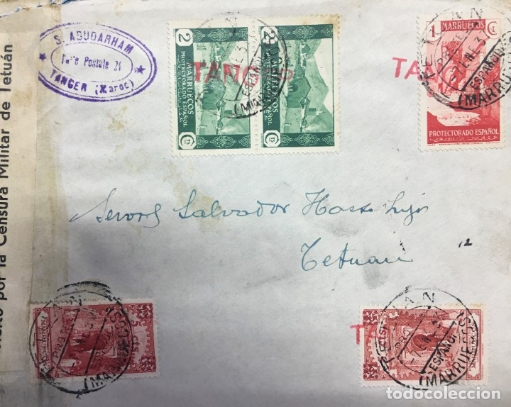 CARTA DE TÁNGER A TETUAN (Sellos - España - Colonias Españolas y Dependencias - África - Marruecos)