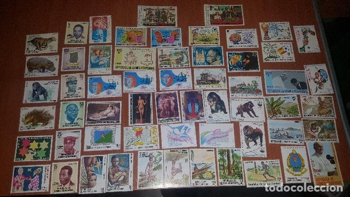GUINEA ECUATORIAL, 58 SELLOS + 2 HOJITAS NUVOS, (Sellos - España - Colonias Españolas y Dependencias - África - Guinea)
