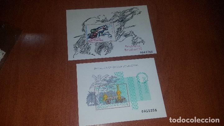 Sellos: Guinea ecuatorial, 58 sellos + 2 hojitas nuvos, - Foto 2 - 179058755
