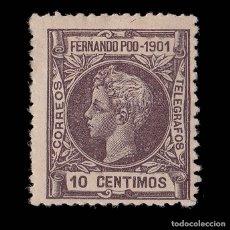 Sellos: SELLOS.ESPAÑA.FERNANDO POO.1901 ALFONSO XIII.10C.CAST.VIOLETA.NUEVO*.EDIFIL 100.MARQUILLA.. Lote 179064721