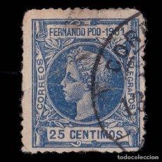 Sellos: SELLOS. ESPAÑA. FERNANDO POO.1901 ALFONSO XIII. 25C. ULTRAMAR. USADO. EDIFIL Nº101.. Lote 179065526