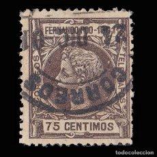 Sellos: SELLOS. ESPAÑA.FERNANDO POO.1901 ALFONSO XIII. 75C.CASTAÑO OSCURO. USADO. EDIFIL Nº103.. Lote 179066767