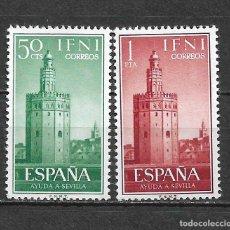 Sellos: ESPAÑA IFNI 1962 EDIFIL 193/194 ** - 2/46. Lote 180182382