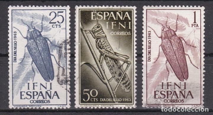 IFNI 1964 - DÍA DEL SELLO SERIE COMPLETA USADA EDIFIL Nº 200/202 (Sellos - España - Colonias Españolas y Dependencias - África - Ifni)