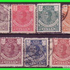 Timbres: GUINEA 1914 ALFONSO XIII, EDIFIL Nº 98 A 102, 104 Y 107 (O). Lote 181167176