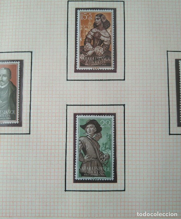Sellos: SELLOS SAHARA ESPAÑOL CORREOS PRO INFANCIA 1959 F.N.M.T - Foto 2 - 181409782