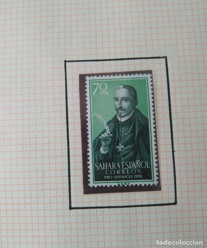Sellos: SELLOS SAHARA ESPAÑOL CORREOS PRO INFANCIA 1959 F.N.M.T - Foto 3 - 181409782