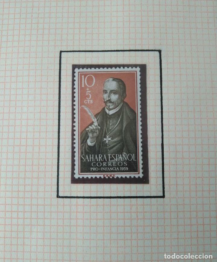 Sellos: SELLOS SAHARA ESPAÑOL CORREOS PRO INFANCIA 1959 F.N.M.T - Foto 4 - 181409782