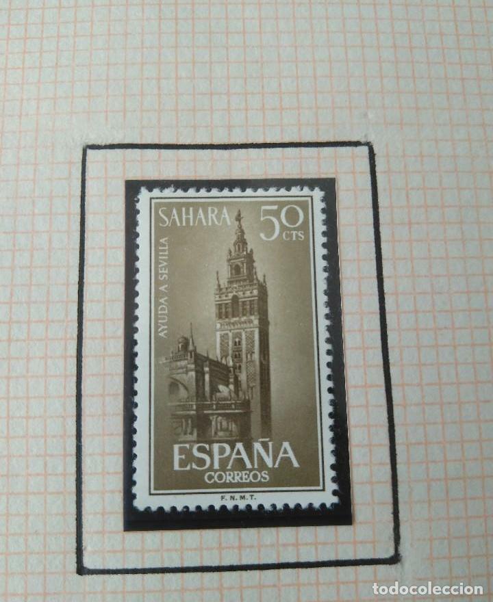 Sellos: SELLOS SAHARA ESPAÑOL AYUDA A SEVILLA-F.N.M.T - Foto 3 - 181414525