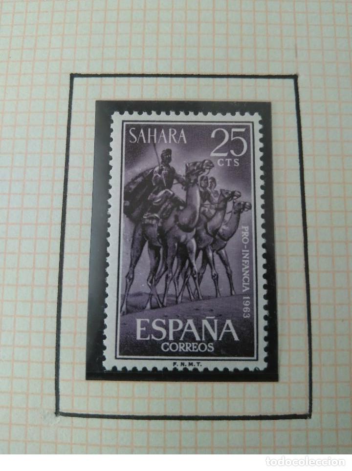 Sellos: SELLOS SAHARA ESPAÑOL PRO INFANCIA 1963 F.N.M.T - Foto 2 - 181415306