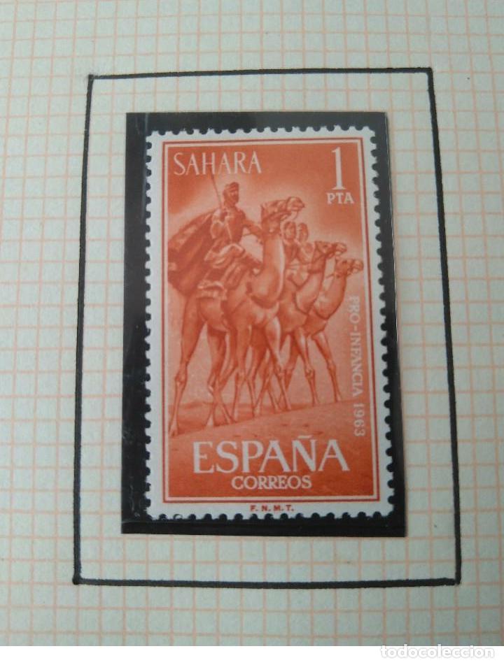 Sellos: SELLOS SAHARA ESPAÑOL PRO INFANCIA 1963 F.N.M.T - Foto 3 - 181415306