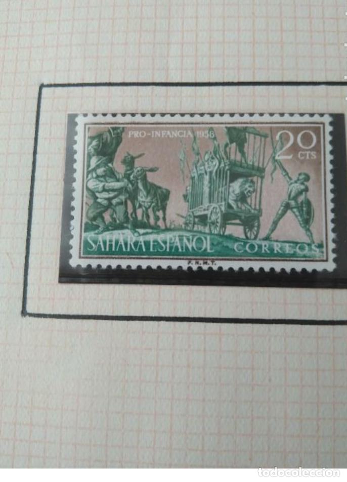 Sellos: SELLOS SAHARA ESPAÑOL PRO INFANCIA 1958 F.N.M.T - Foto 2 - 181733868