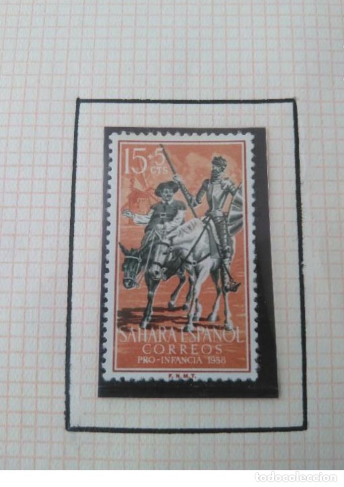 Sellos: SELLOS SAHARA ESPAÑOL PRO INFANCIA 1958 F.N.M.T - Foto 3 - 181733868