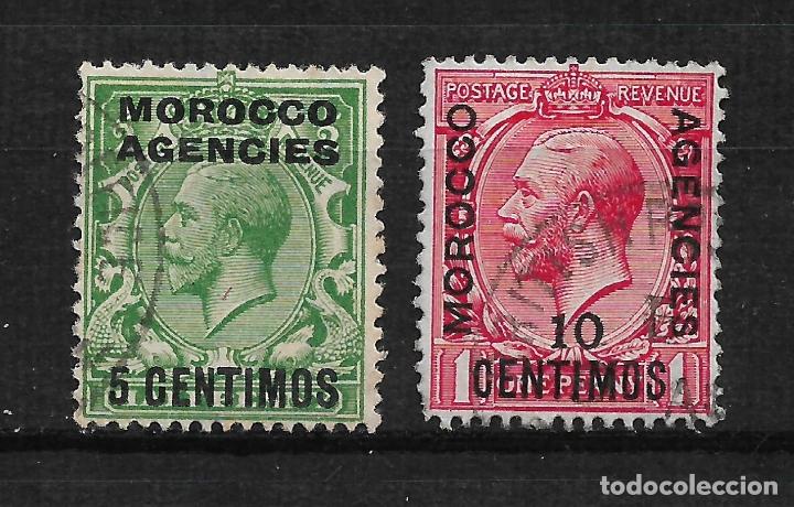 GRAN BRETAÑA MARRUECOS 1914 USADO - 14/18 (Sellos - España - Colonias Españolas y Dependencias - África - Marruecos)