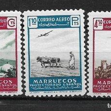 Sellos: ESPAÑA MARRUECOS 1953 * - 14/17. Lote 181996063