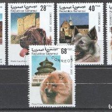 Sellos: REPUBLICA SAHARAUI, RAZAS DE PERROS 2000.. Lote 182025286