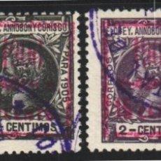 Sellos: ELOBEY, ANNOBÓN Y CORISCO, 1906 EDIFIL Nº 34A / 34D, . Lote 182037288