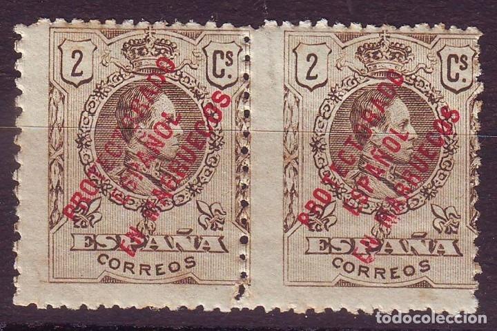 MARRUECOS 44 HZ*MH SOBRECARGA ESTRECHA PROTECTORADO VC 10 EUROS (Sellos - España - Colonias Españolas y Dependencias - África - Marruecos)