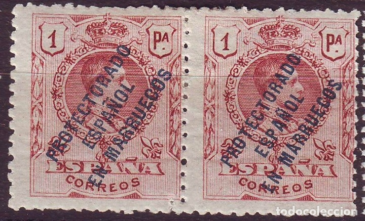 MARRUECOS 53 HZ*MH. .SOBRECARGA ESTRECHA PROTECTORADO VC 20 EUROS (Sellos - España - Colonias Españolas y Dependencias - África - Marruecos)