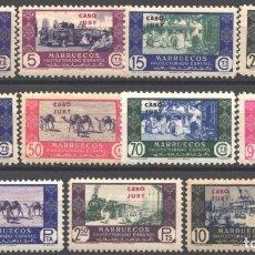 Sellos: CABO JUBY, 1948 EDIFIL Nº 162 / 172 /**/, COMERCIO, SIN FIJASELLOS. Lote 182536802