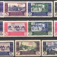 Sellos: CABO JUBY, 1948 EDIFIL Nº 162 / 172 /**/, COMERCIO, SIN FIJASELLOS. Lote 182536825