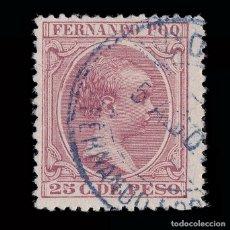 Sellos: FERNANDO POO 1894-96 ALFONSO XIII.25 CT.USADO.EDIFIL 22.. Lote 183017135