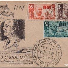 Selos: SOBRE ILUSTRADO. VISITA DE FRANCO A IFNI. Lote 183040516