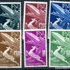 Sellos: EDIFIL 89/94 DE IFNI. TEMA AVIACIÓN. NUEVOS SIN FIJASELLOS. VER DESCRIPCIÓN.. Lote 183088771