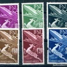 Sellos: EDIFIL 89/94 DE IFNI. TEMA AVIACIÓN. CON LIGERO ÓXIDO. VER DESCRIPCIÓN.. Lote 183088935