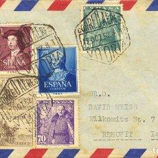 Sellos: ESPAÑA. 2º CENTENARIO ANTERIOR A 1960. SOBRE 1093, 1108. 1952. DIVERSOS VALORES. CORREO AÉREO DE VI. Lote 183112127
